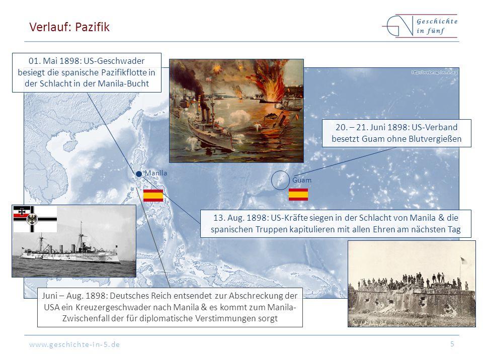 www.geschichte-in-5.de Manila Guam Verlauf: Pazifik 5 01.