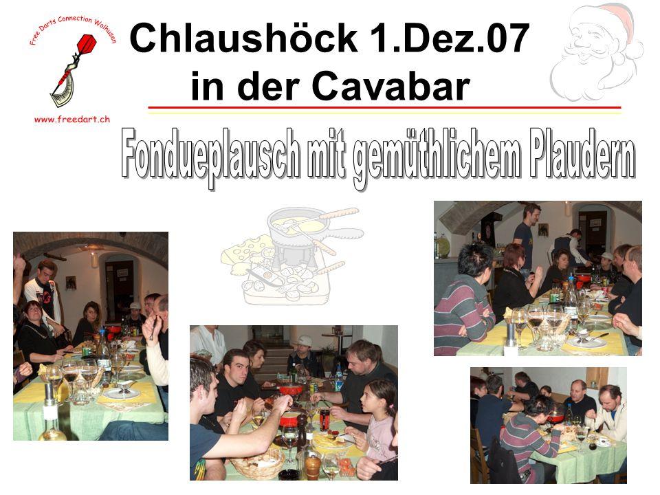 Chlaushöck 1.Dez.07 in der Cavabar