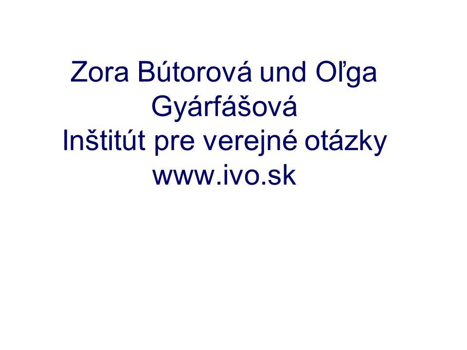 Zora Bútorová und Oľga Gyárfášová Inštitút pre verejné otázky www.ivo.sk