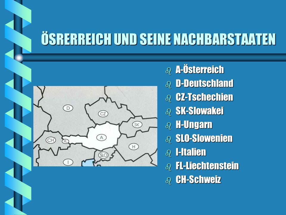 EINIGE DATEN UND FAKTEN b Territorium 83 858 km² b Einwohnerzahl etwa 8Millionen b Hauptstadt Wien