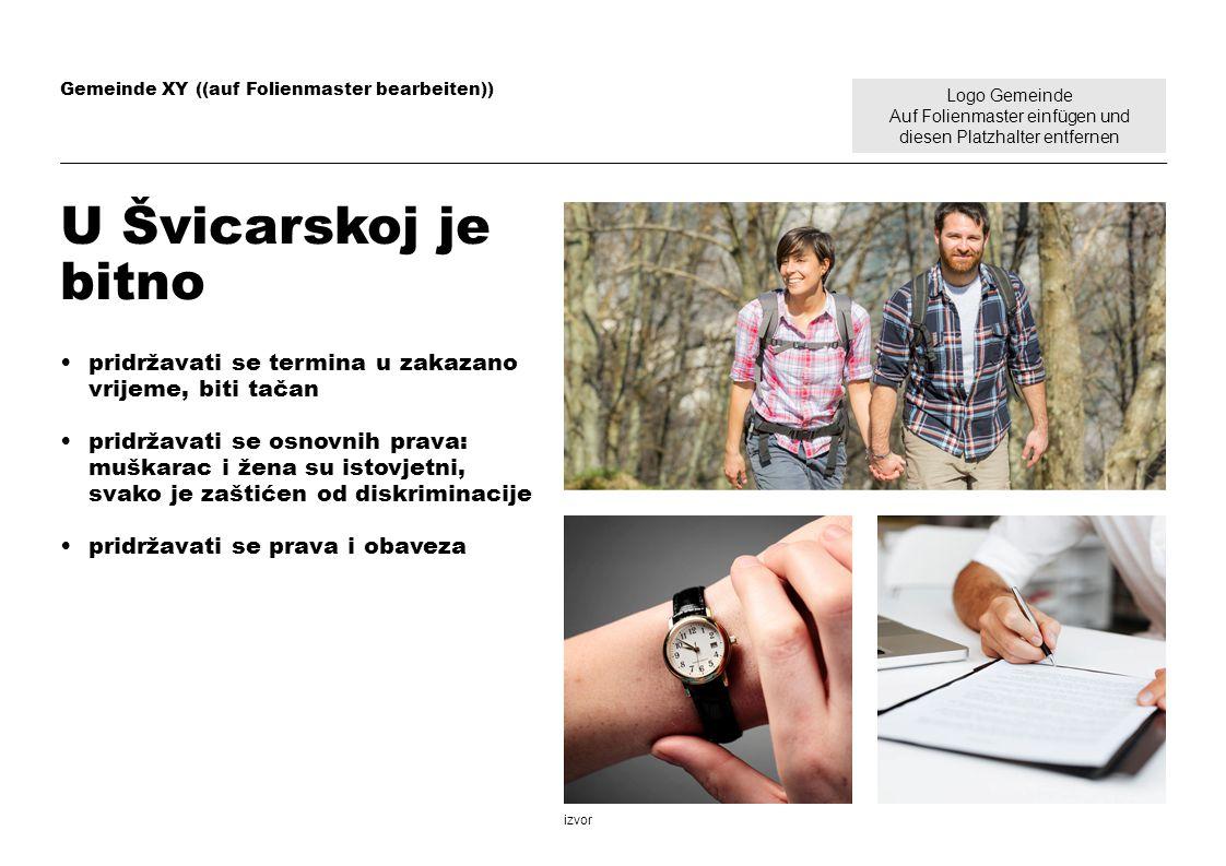 Logo Gemeinde Auf Folienmaster einfügen und diesen Platzhalter entfernen Gemeinde XY ((auf Folienmaster bearbeiten)) U Švicarskoj je bitno pridržavati
