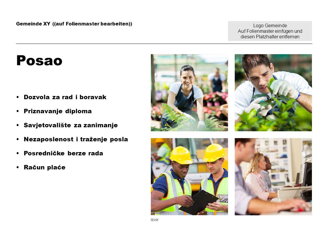 Logo Gemeinde Auf Folienmaster einfügen und diesen Platzhalter entfernen Gemeinde XY ((auf Folienmaster bearbeiten)) Posao Dozvola za rad i boravak Pr