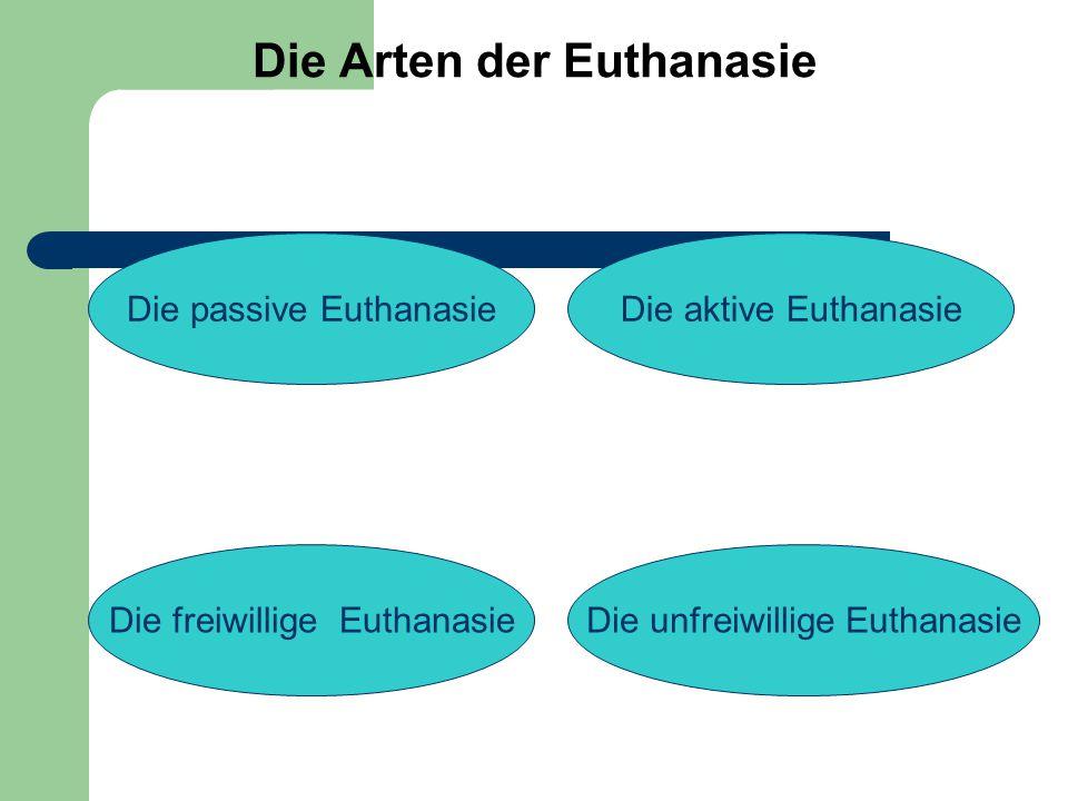 Die Länder, in denen die passive Euthanasie gesetzlich ist: 1.
