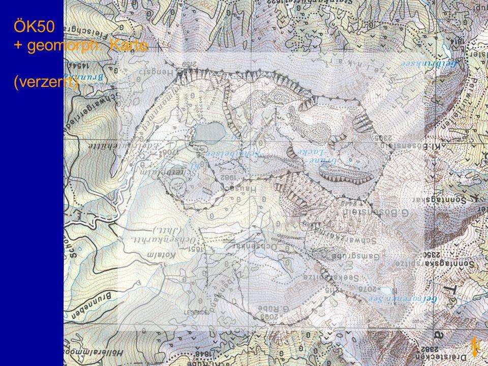 ÖK50 + geomorph. Karte (verzerrt) N