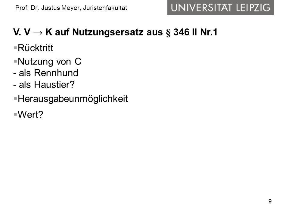9 Prof.Dr. Justus Meyer, Juristenfakultät V.