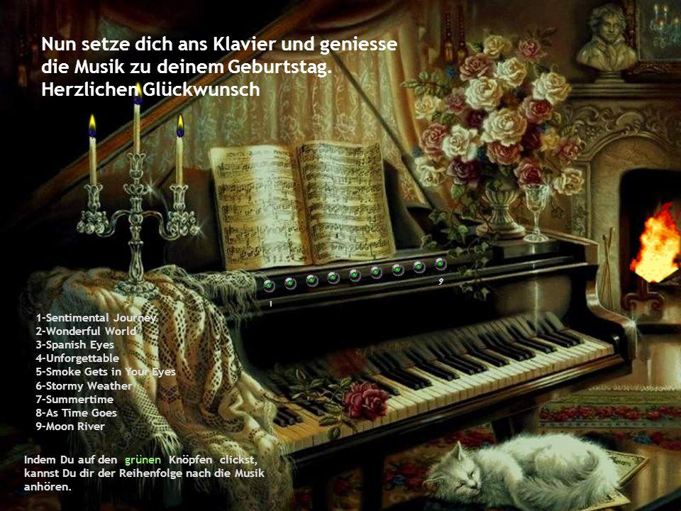 ... Jetzt clicke auf den Knopf hier am Klavier >>