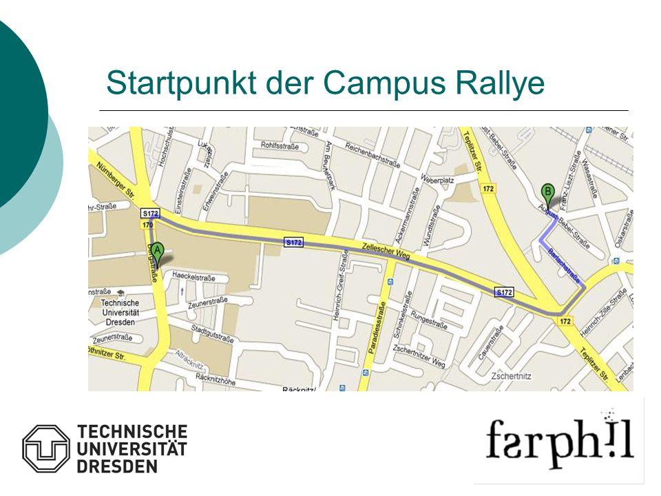 Startpunkt der Campus Rallye