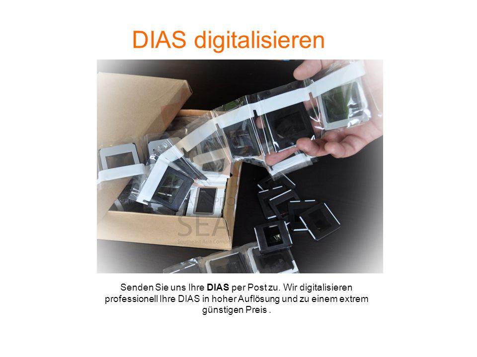 DIAS digitalisieren Senden Sie uns Ihre DIAS per Post zu.