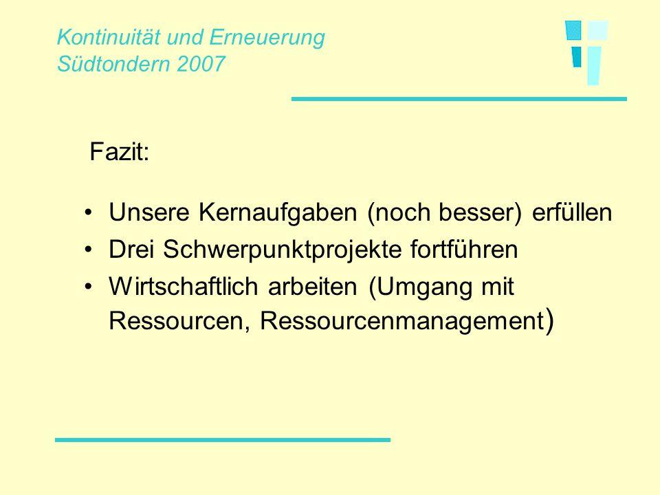 Danke für Ihre Aufmerksamkeit. Kontinuität und Erneuerung Südtondern 2007.ppt/pitt 27/11