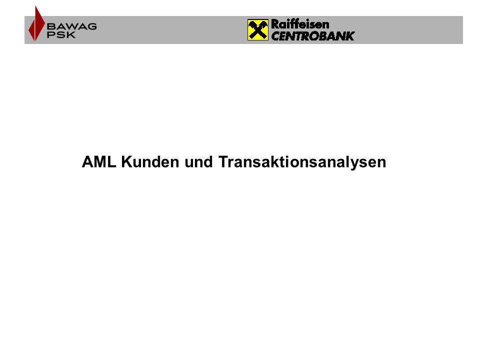 AML Kunden und Transaktionsanalysen