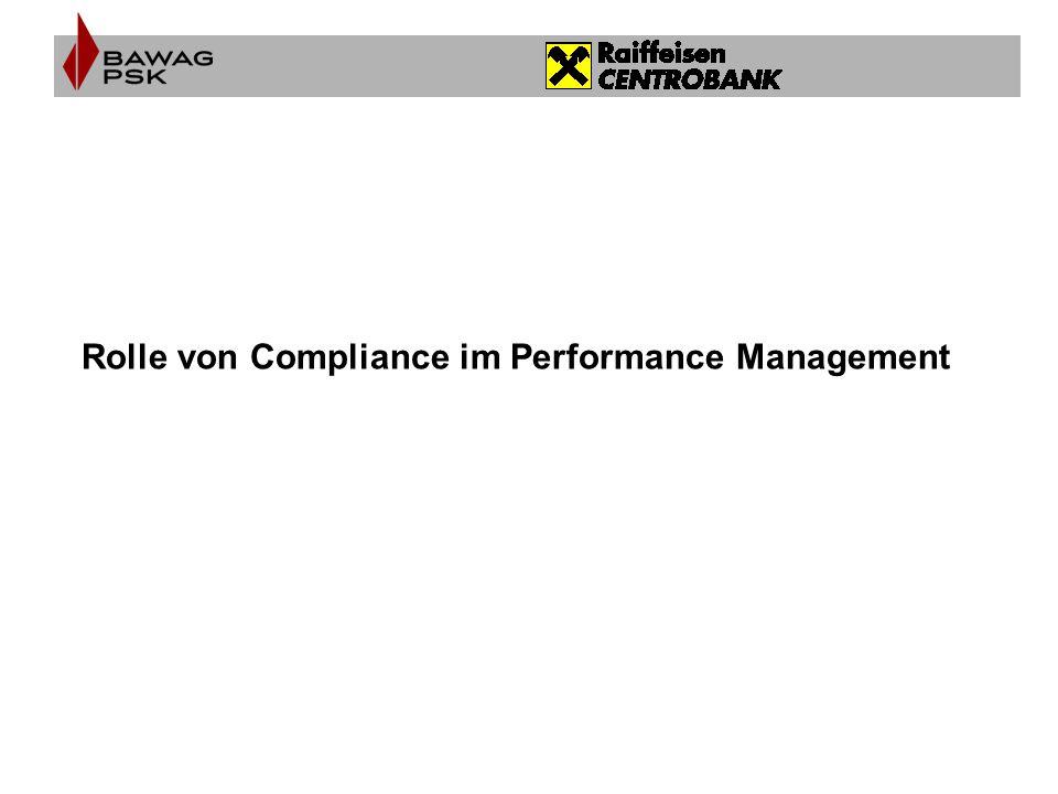 Rolle von Compliance im Performance Management