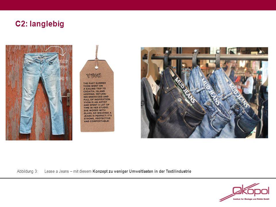 C2: langlebig Abbildung 3:Lease a Jeans – mit diesem Konzept zu weniger Umweltlasten in der Textilindustrie