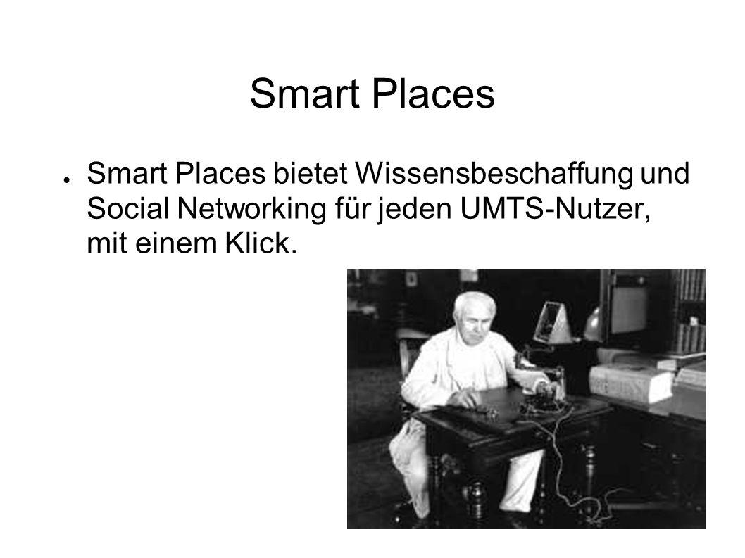 Smart Places ● Smart Places bietet Wissensbeschaffung und Social Networking für jeden UMTS-Nutzer, mit einem Klick.