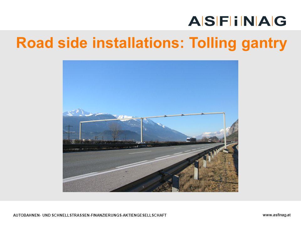 AUTOBAHNEN- UND SCHNELLSTRASSEN-FINANZIERUNGS-AKTIENGESELLSCHAFT www.asfinag.at Road side installations: Tolling gantry