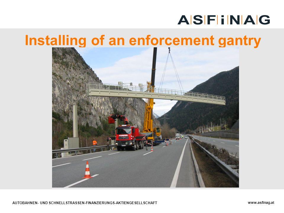 AUTOBAHNEN- UND SCHNELLSTRASSEN-FINANZIERUNGS-AKTIENGESELLSCHAFT www.asfinag.at Installing of an enforcement gantry