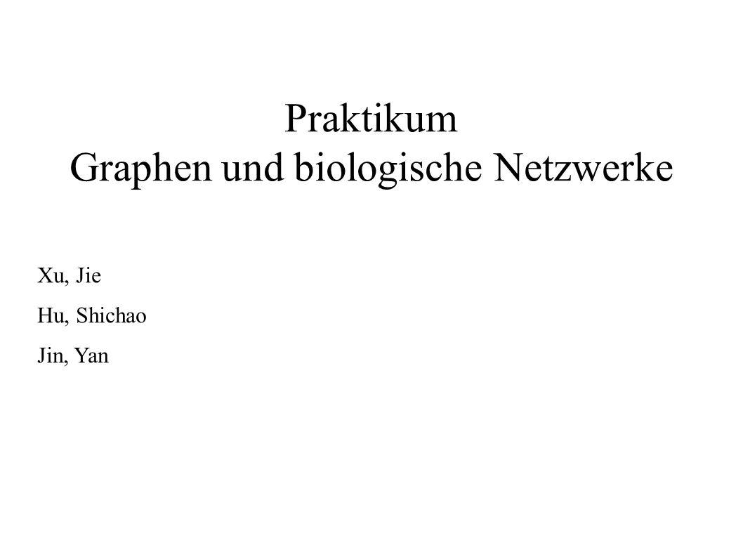Praktikum Graphen und biologische Netzwerke Xu, Jie Hu, Shichao Jin, Yan
