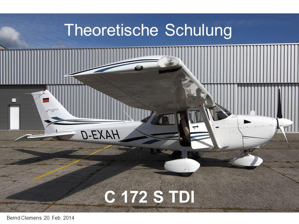 Inhalt Schulung C172S TDI 1.Aufbau und Ausstattung 1.1Motor 1.2Panel 2.