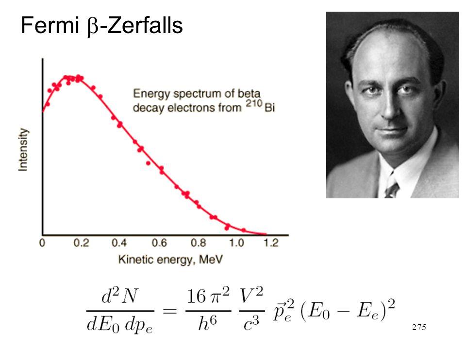 275 Fermi  -Zerfalls