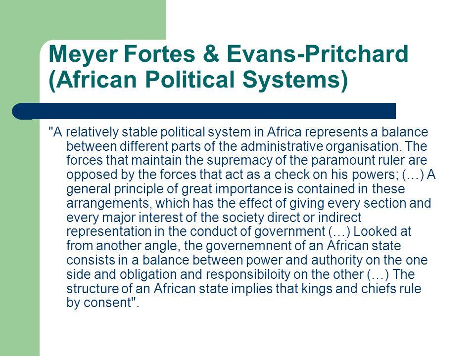 Meyer Fortes & Evans-Pritchard (African Political Systems)