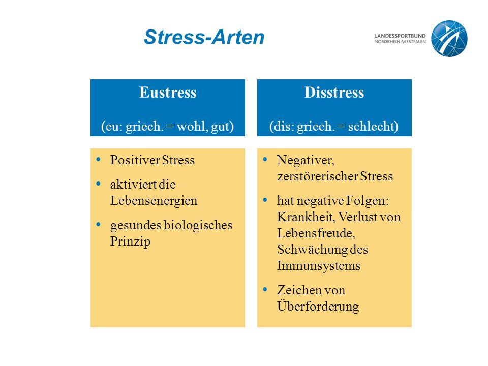 Stress-Arten Eustress (eu: griech.
