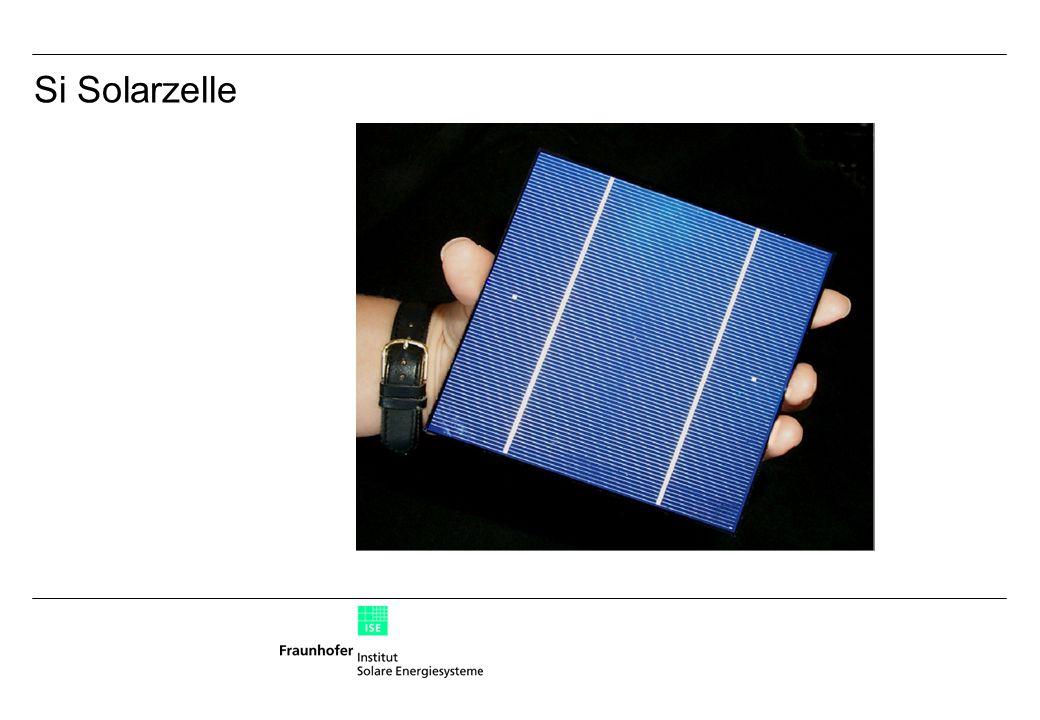 Si Solarzelle