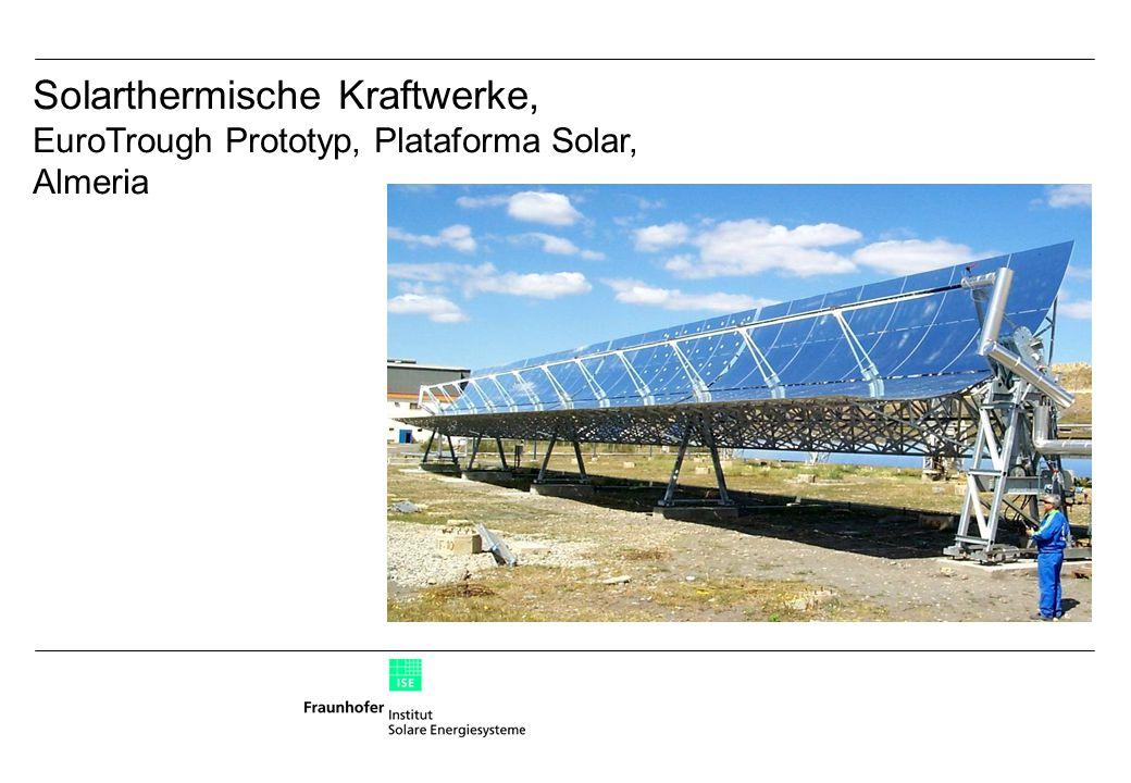 Solarthermische Kraftwerke, EuroTrough Prototyp, Plataforma Solar, Almeria