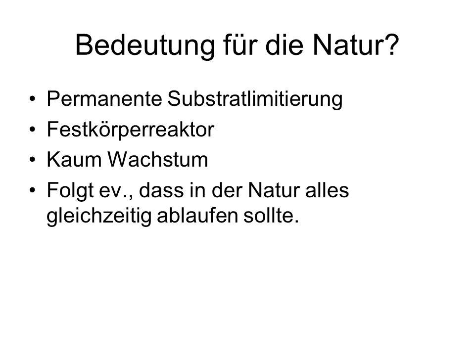 Permanente Substratlimitierung Festkörperreaktor Kaum Wachstum Folgt ev., dass in der Natur alles gleichzeitig ablaufen sollte.