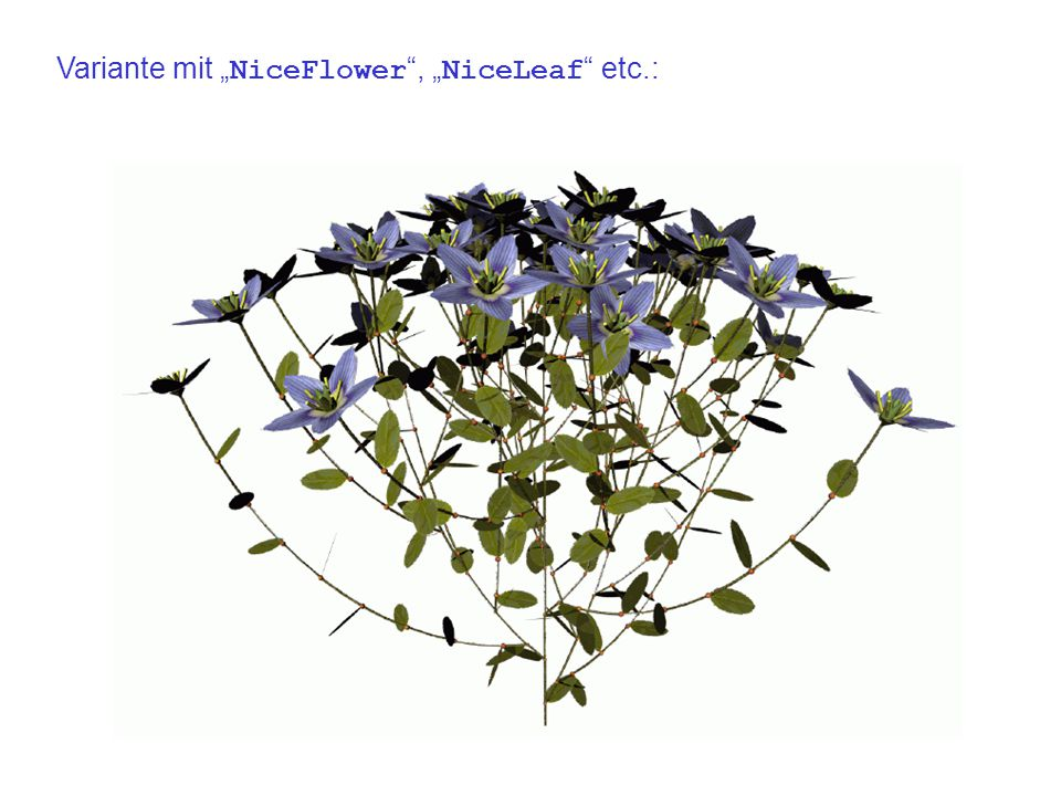 "Variante mit "" NiceFlower , "" NiceLeaf etc.:"