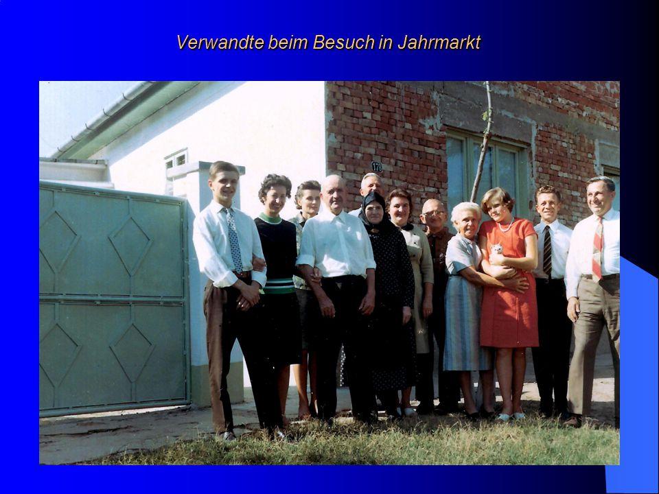 Verwandte beim Besuch in Jahrmarkt