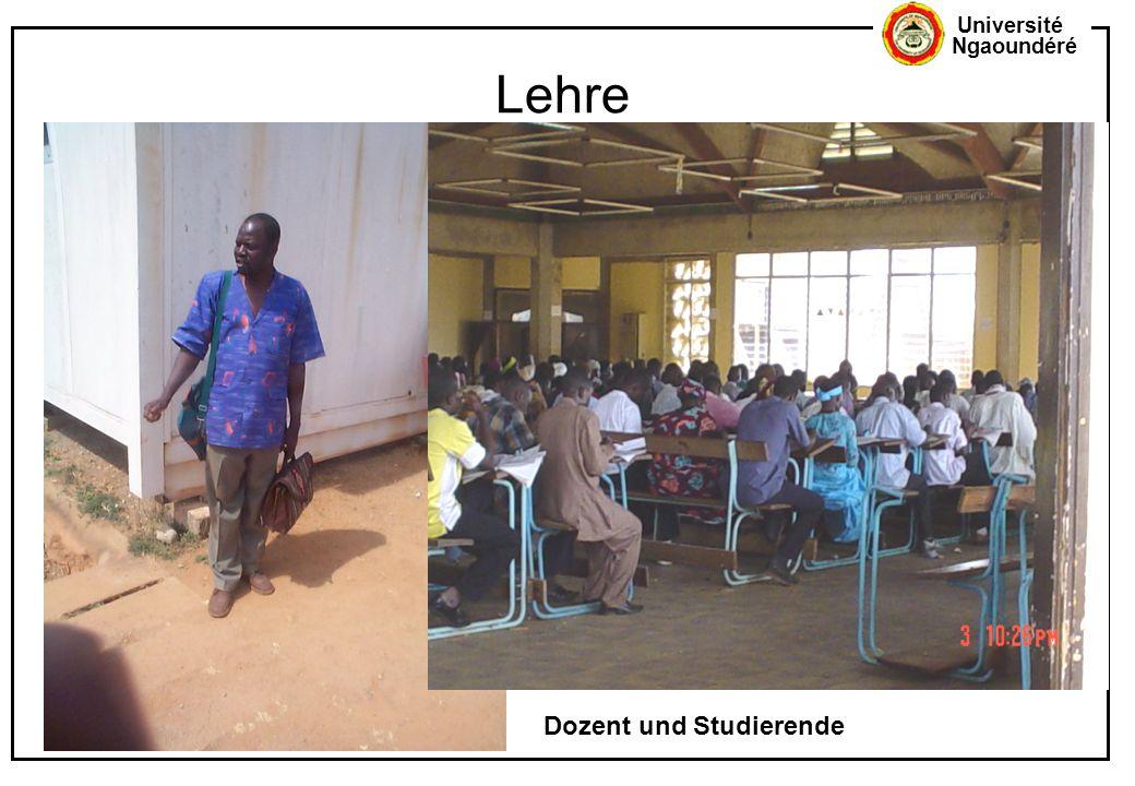 Université Ngaoundéré Lehre Dozent und Studierende