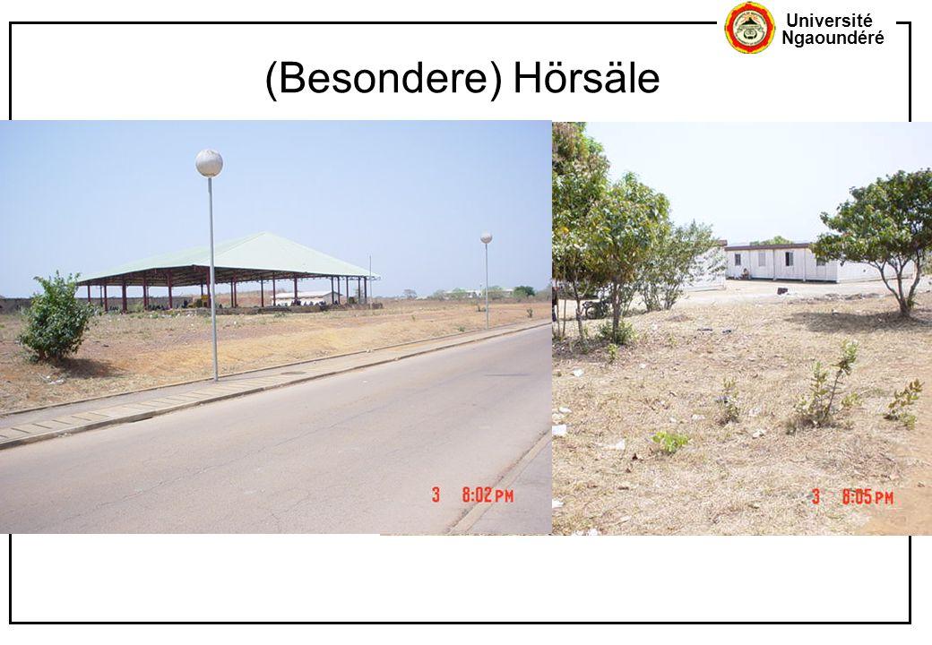 Université Ngaoundéré (Besondere) Hörsäle