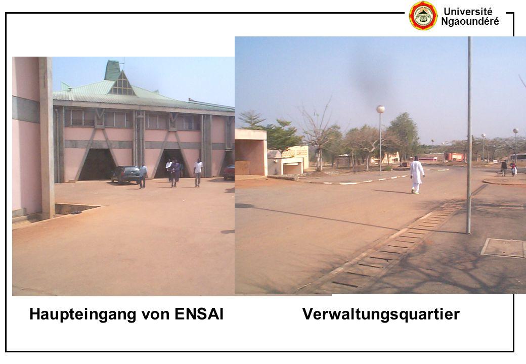 Université Ngaoundéré Haupteingang von ENSAIVerwaltungsquartier