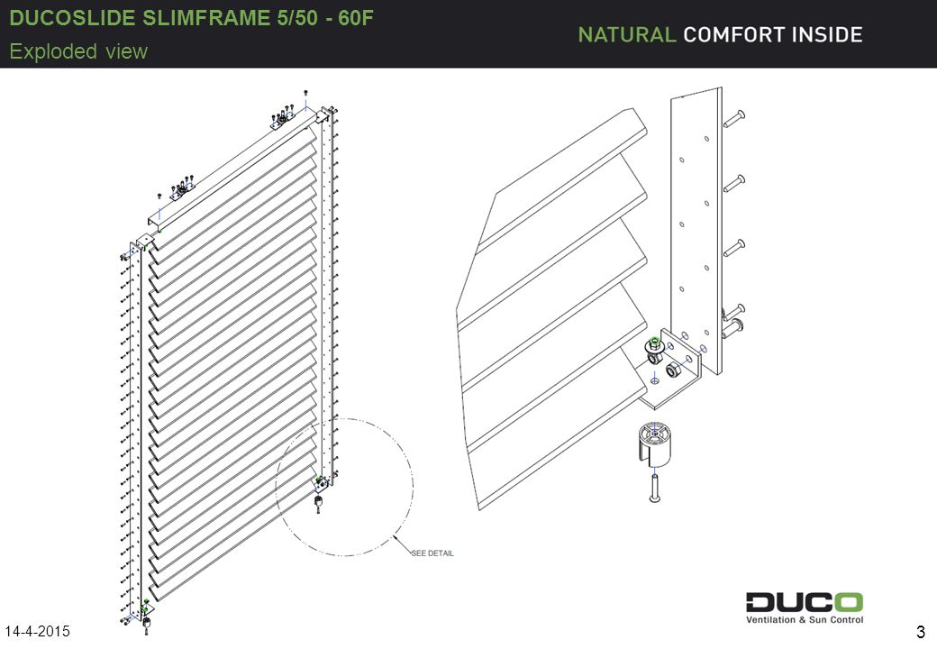 DUCOSLIDE SLIMFRAME 5/50 - 60F 14-4-2015 3 Exploded view