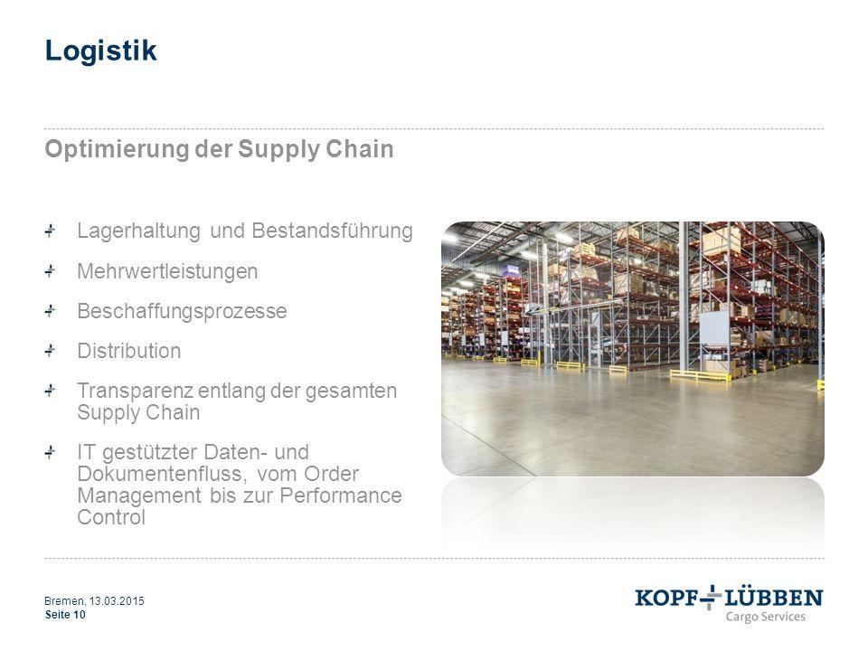 Logistik Optimierung der Supply Chain Lagerhaltung und Bestandsführung Mehrwertleistungen Beschaffungsprozesse Distribution Transparenz entlang der ge