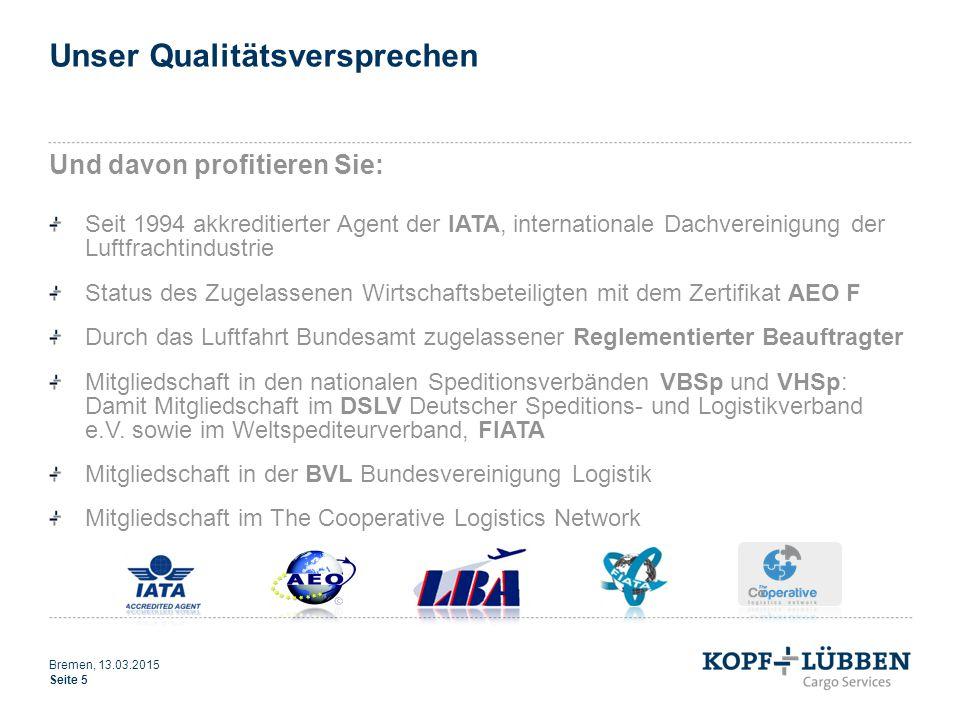 Unser Qualitätsversprechen Und davon profitieren Sie: Seit 1994 akkreditierter Agent der IATA, internationale Dachvereinigung der Luftfrachtindustrie