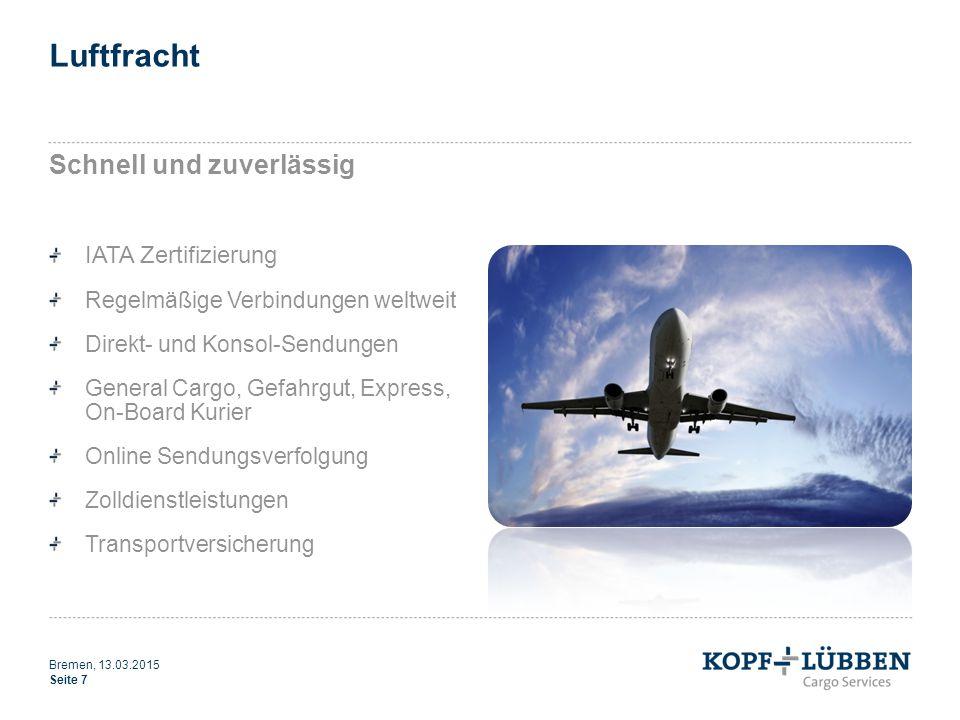 Luftfracht Schnell und zuverlässig IATA Zertifizierung Regelmäßige Verbindungen weltweit Direkt- und Konsol-Sendungen General Cargo, Gefahrgut, Expres