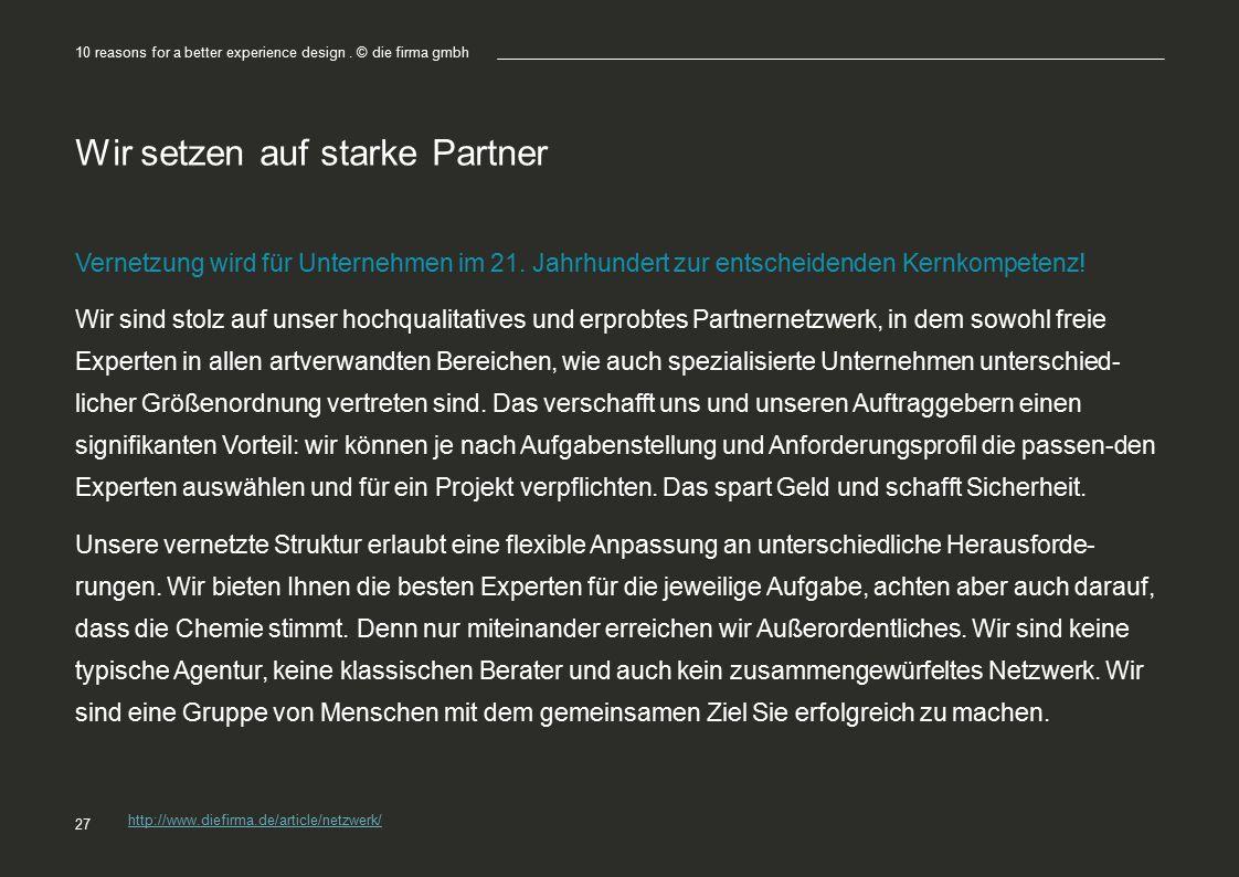 Wir setzen auf starke Partner Vernetzung wird für Unternehmen im 21.