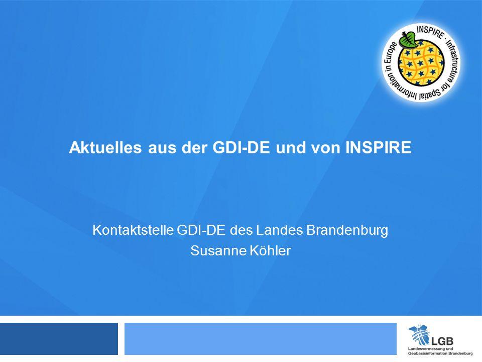 Kontaktstelle GDI-DE des Landes Brandenburg Susanne Köhler