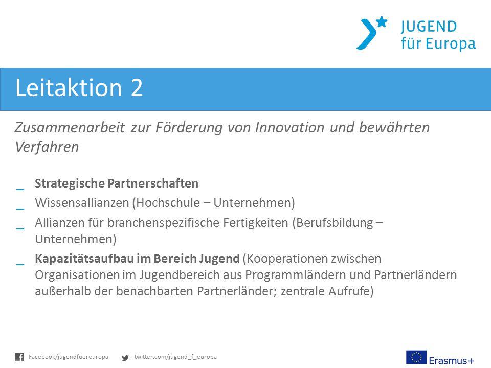 twitter.com/jugend_f_europaFacebook/jugendfuereuropa Leitaktion 2 _Strategische Partnerschaften _Wissensallianzen (Hochschule – Unternehmen) _Allianze