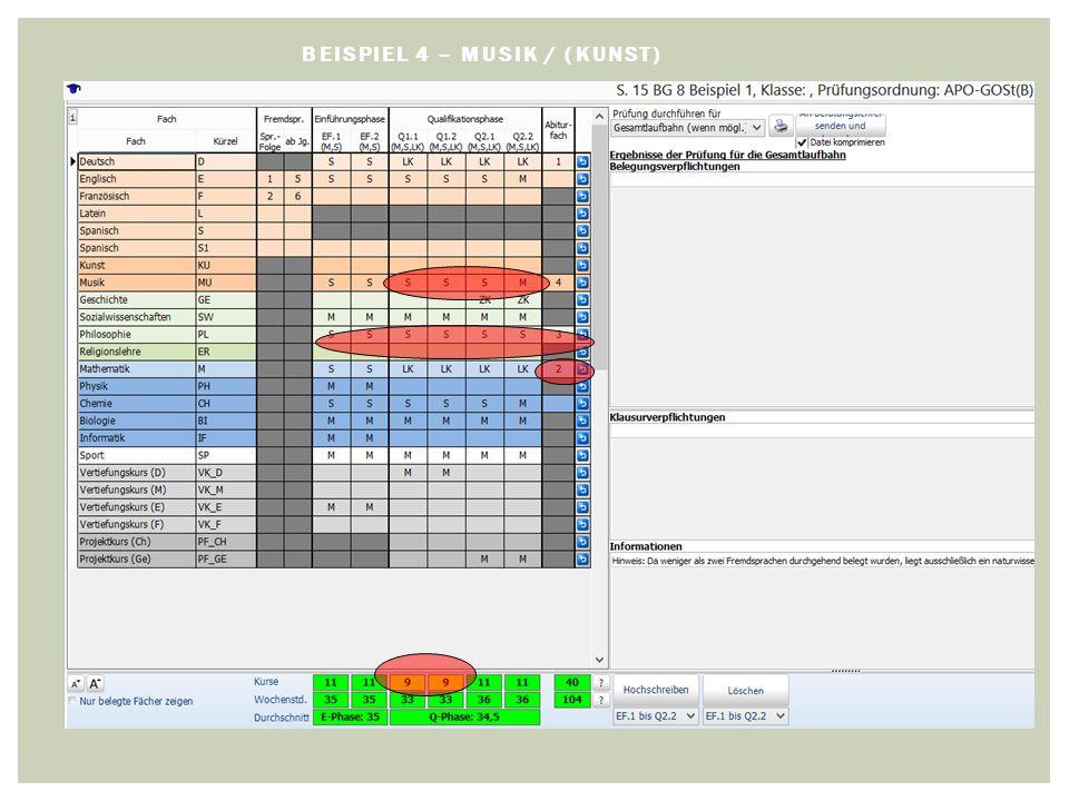 BEISPIEL 4 – MUSIK / (KUNST)