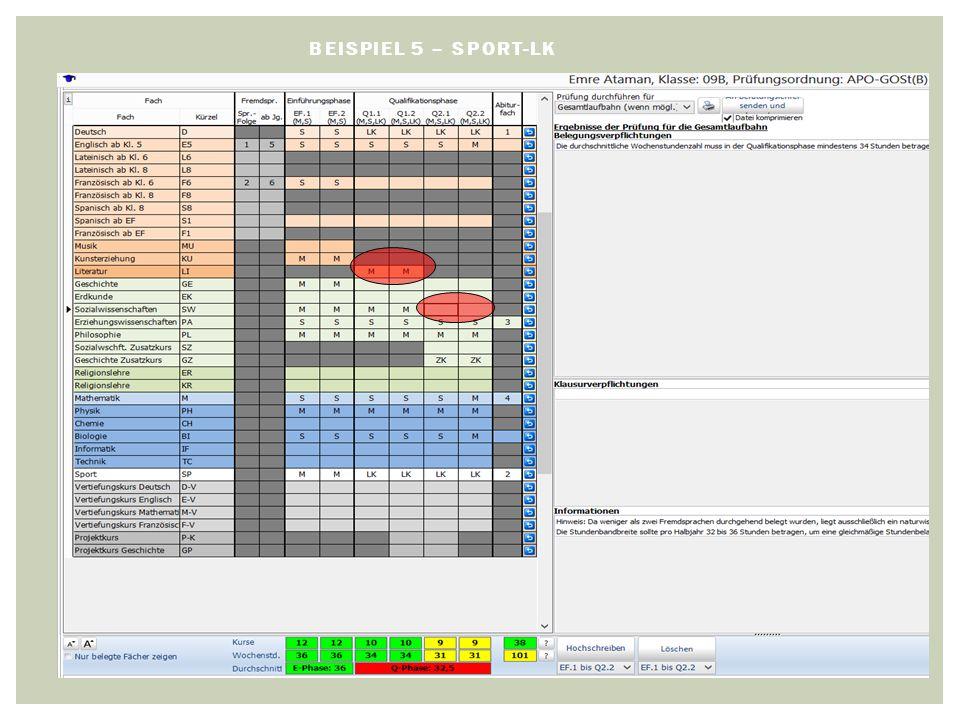 BEISPIEL 5 – SPORT-LK