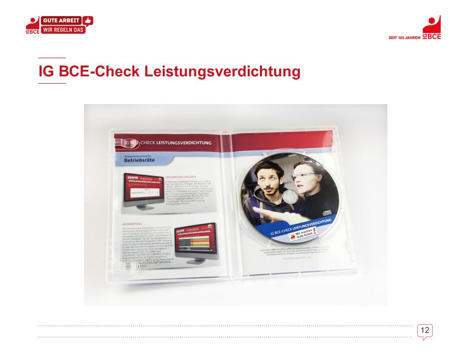 12 IG BCE-Check Leistungsverdichtung