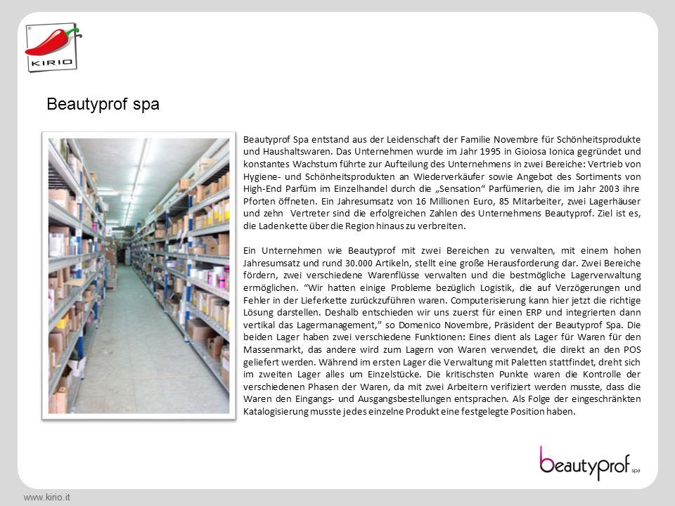 www.kirio.it Beautyprof Spa entstand aus der Leidenschaft der Familie Novembre für Schönheitsprodukte und Haushaltswaren.