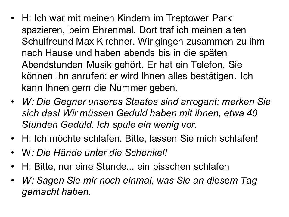H: Ich war mit meinen Kindern im Treptower Park spazieren, beim Ehrenmal.