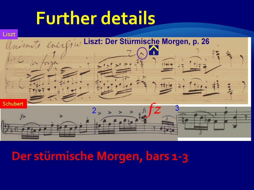 fz Der stürmische Morgen, bars 1-3 Schubert Liszt Further details