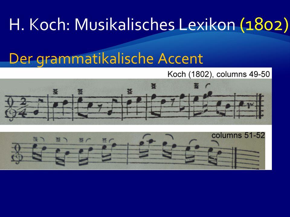 H. Koch: Musikalisches Lexikon (1802) Der grammatikalische Accent