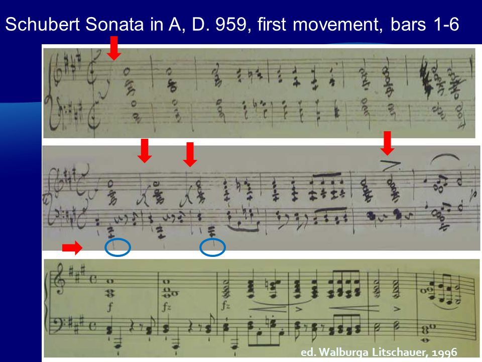 What could Schubert's and Liszt's notation processes tell us.