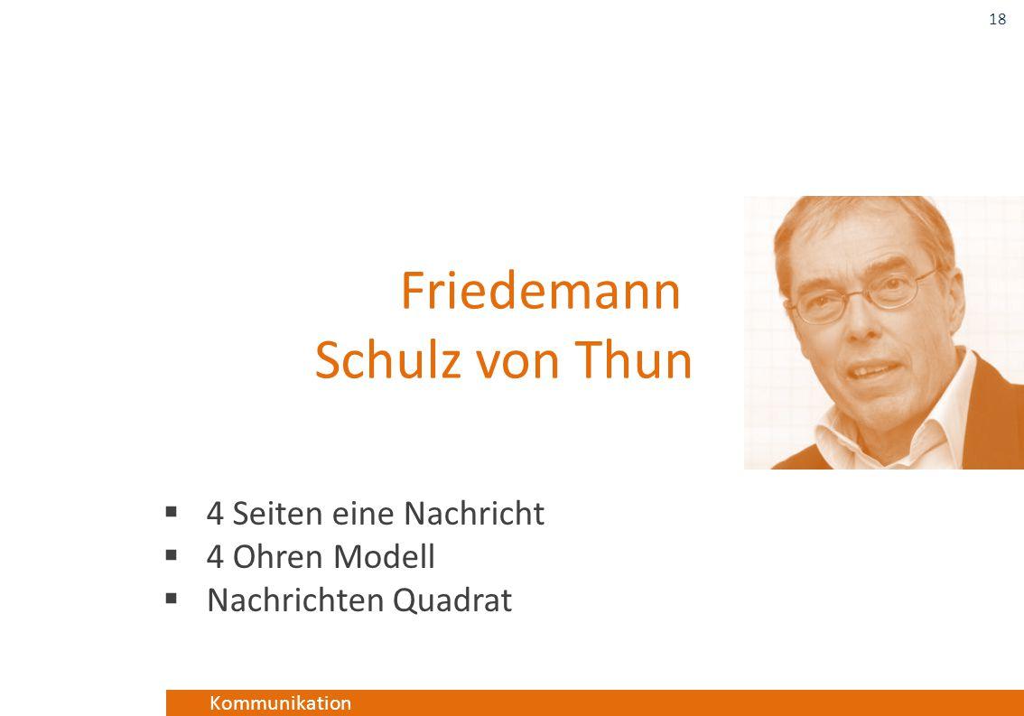 Kommunikation  4 Seiten eine Nachricht  4 Ohren Modell  Nachrichten Quadrat 18 Friedemann Schulz von Thun