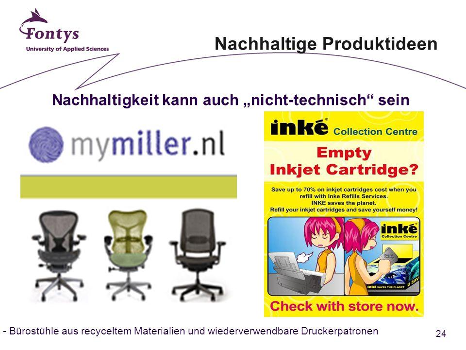 """24 - Bürostühle aus recyceltem Materialien und wiederverwendbare Druckerpatronen Nachhaltige Produktideen Nachhaltigkeit kann auch """"nicht-technisch sein"""