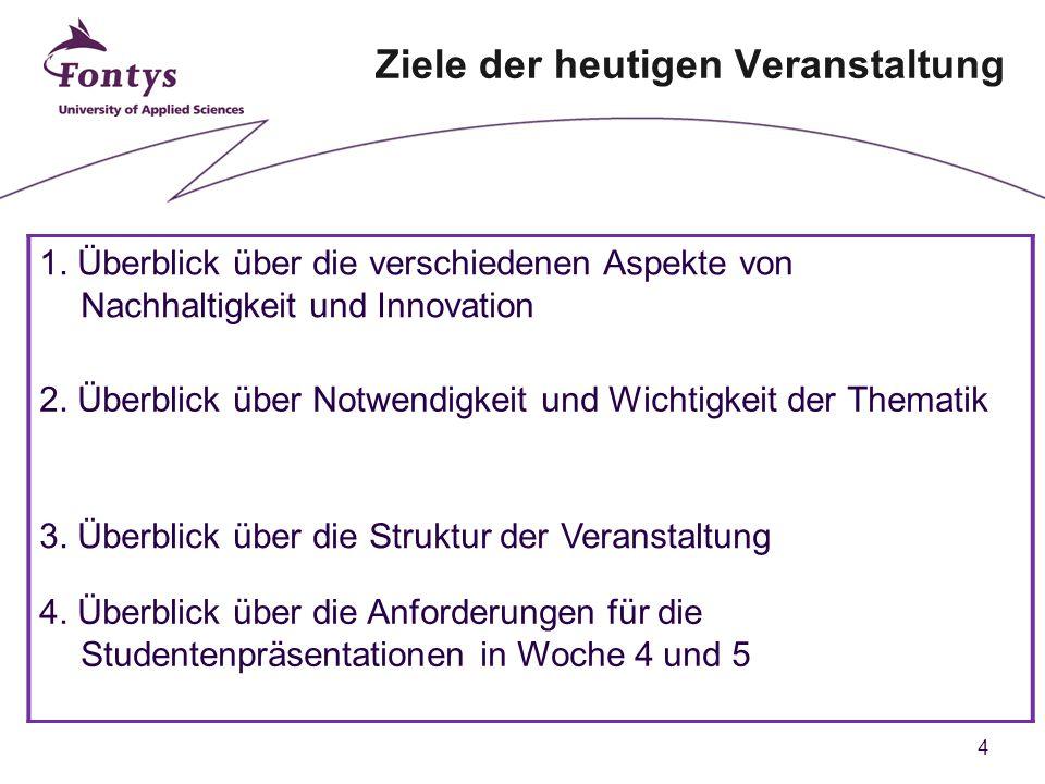 5 Agenda 1.Ziele der heutigen Veranstaltung 2. Kompetenzen 3.
